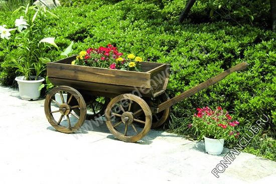 Телега для цветов